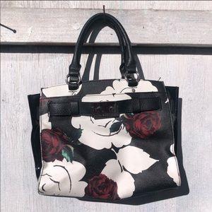 Dana Buchanan Square Rose Black shoulder bag